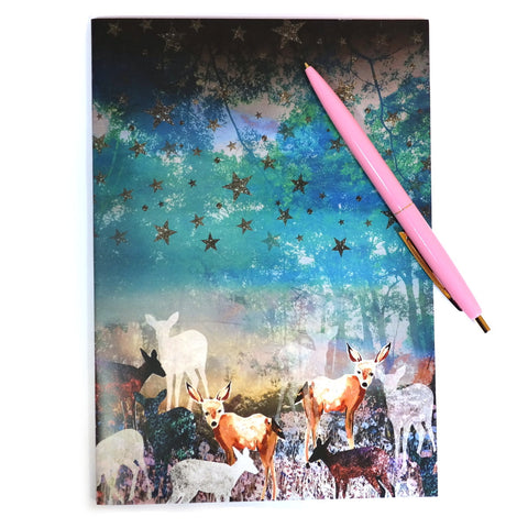 Enchanted Deer Forest Daydreamers Notebook