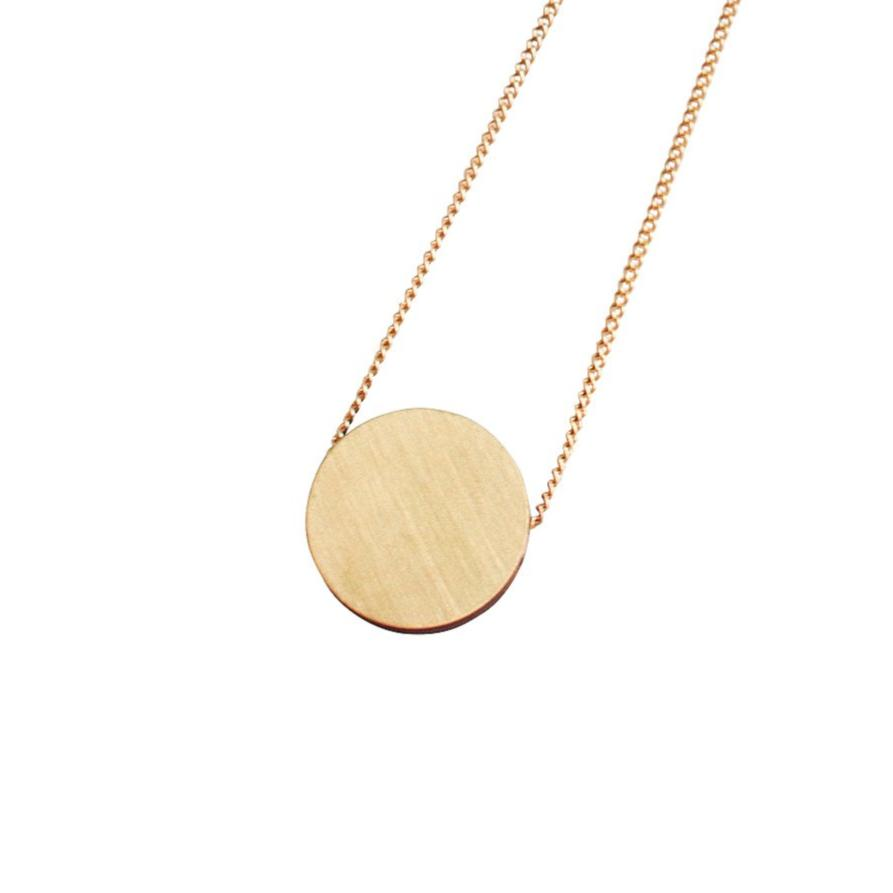 Wolf and Moon Eclipse simple brass circle pendant necklace