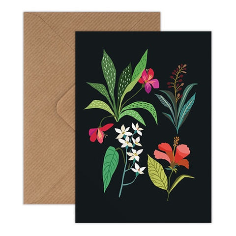 Tropical Study - Bold And Colourful Exotic Plant Illustration