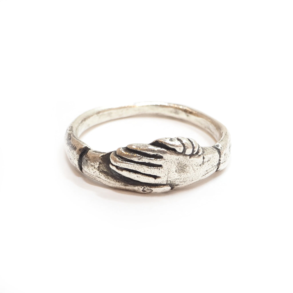 Fede Hand Ring in Silver