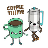 Betty Turbo - Coffee Time Square Art Print