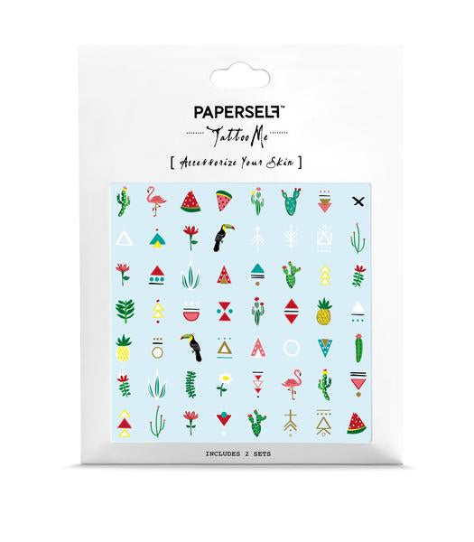 The King of Cactus Temporary Tattoo Set