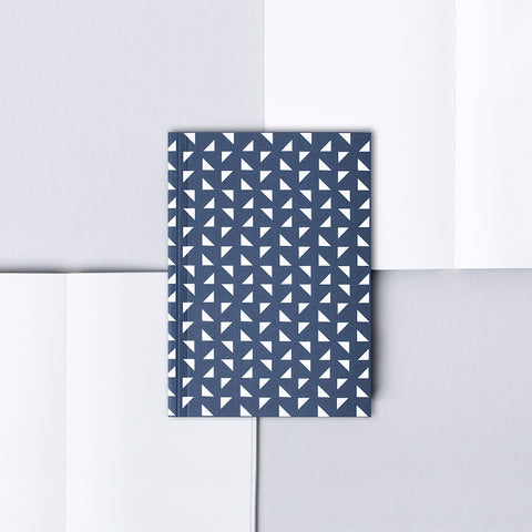 A6 Layflat Notebook in Navy Massi Print