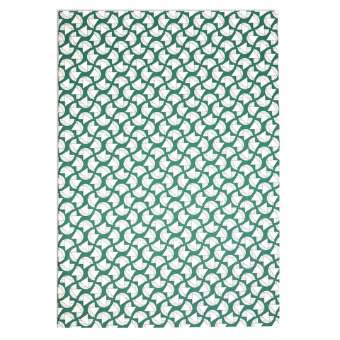 A5 Layflat Notebook in Green Curve