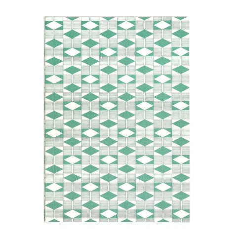 A6 Layflat Notebook in Green Diamond