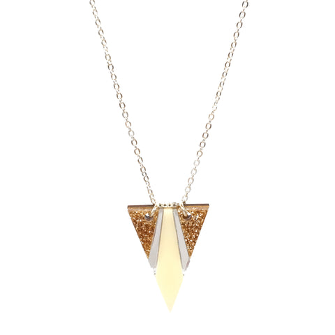Airola Necklace in Glitter Gold