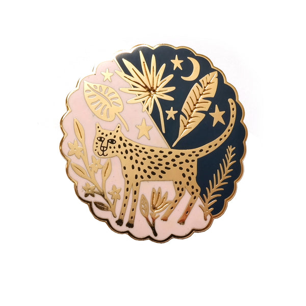 Jaguar in the Rainforest Enamel Metal Pin Badge
