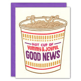 Duplicate Image of Hot Cup of Good News Noodle Card