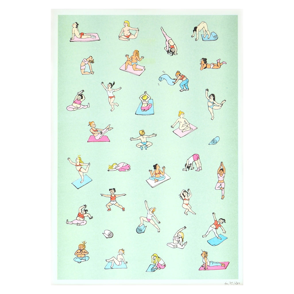 Unframed image of Yoga Poses Riso Print by Coucou Suzette