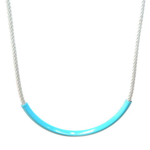 Curve Necklace in Turquoise/Grey