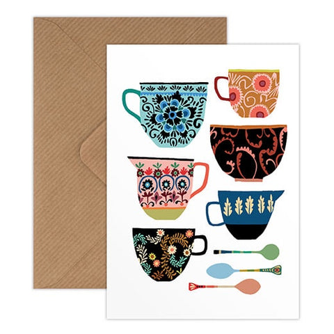 Brie Harrison - Folk Collection Floral Patterned Crockery Card