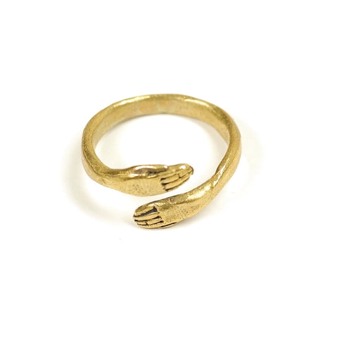 Protective Hand Ring in Brass