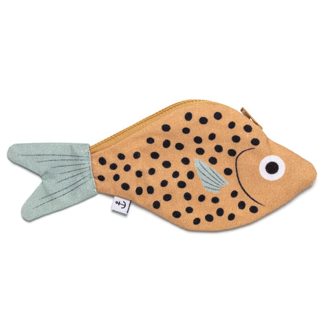 Mustard Bream Fish Cotton Keychain Pouch Purse
