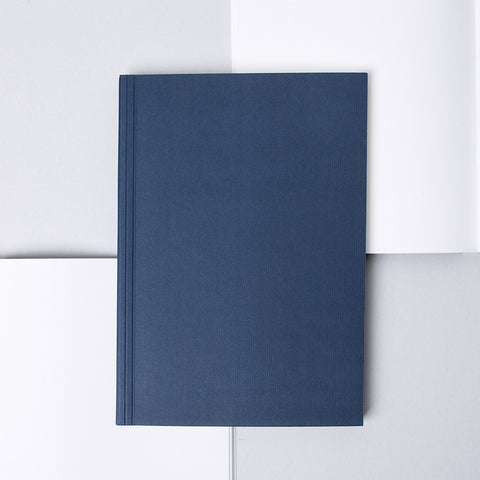 A5 minimal navy notebook with plain soft cover
