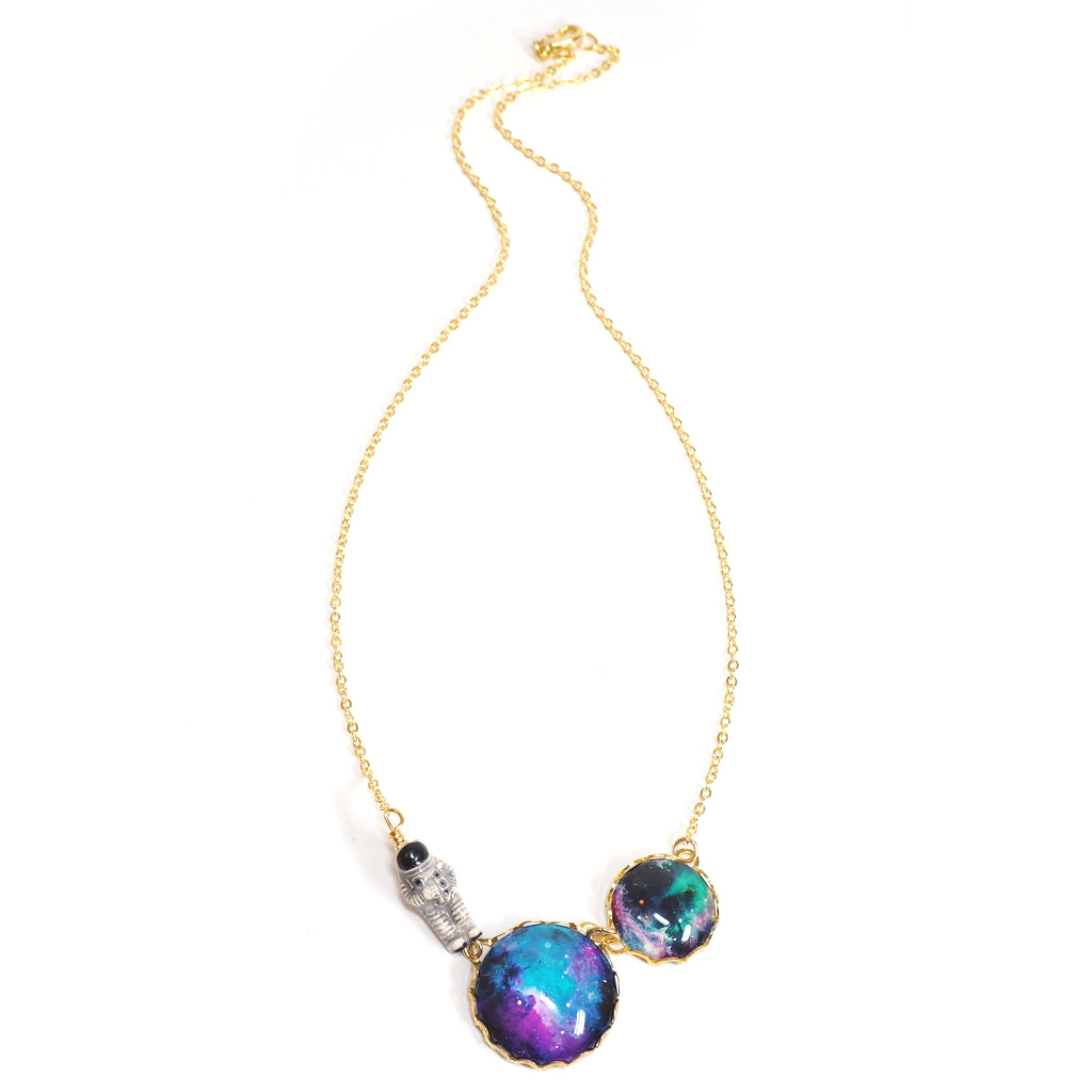 Eclectic Eccentricity - astronaut, planets and space necklace