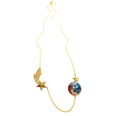Science Watch This Space Nebula Meteor Shooting Star Necklace