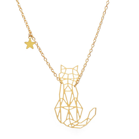 Felis Cat Constellation Necklace