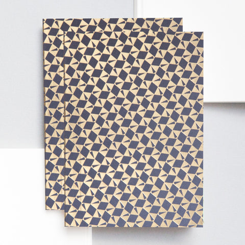 A6 Pocket Notebook in Brass and Dark Grey Victor