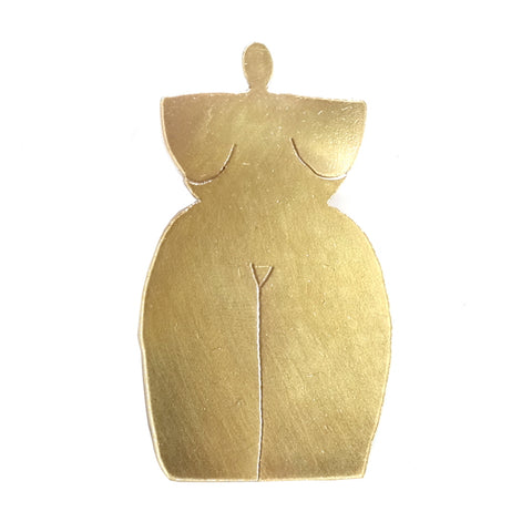 Nude Pin Naked Brass Pin Brooch