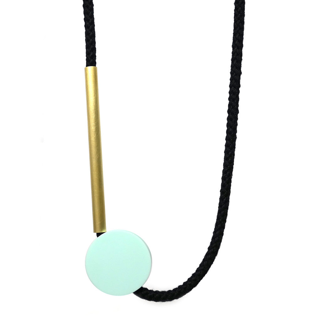 Gia Corian Brass Necklace by One We Made Earlier