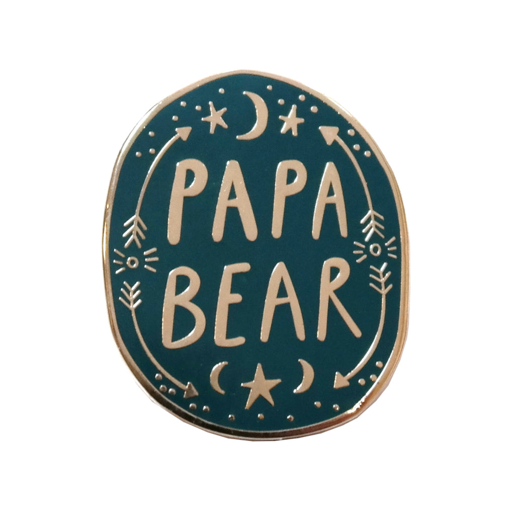 Papa Bear Enamel Pin