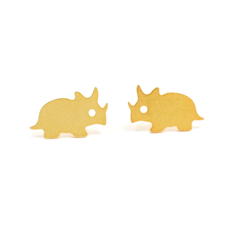 Eclectic Eccentricity - Stomp studs- Triceratops - Gold