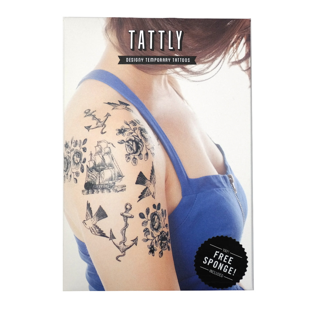 Nautical Temporary Tattoo Set Packaging Front