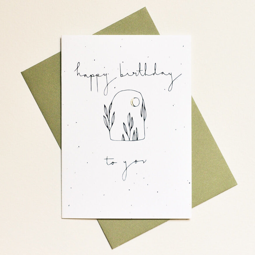 Botanical Happy Birthday To You Card