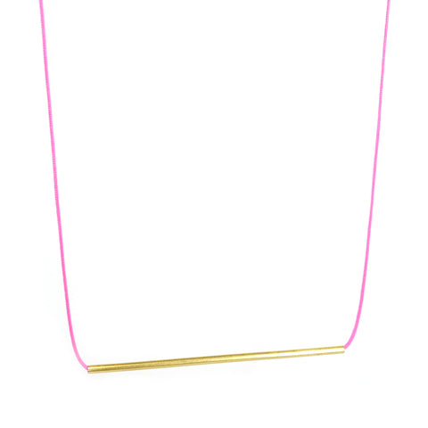 Horizon Necklace in Neon Pink