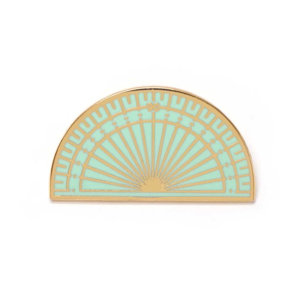 Pastel Coloured Protractor Enamel Pin Brooch