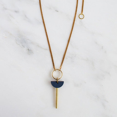 Talisman Necklace in Midnight Blue