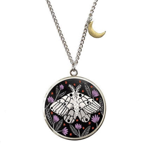 Creature of the Night Locket in Silver