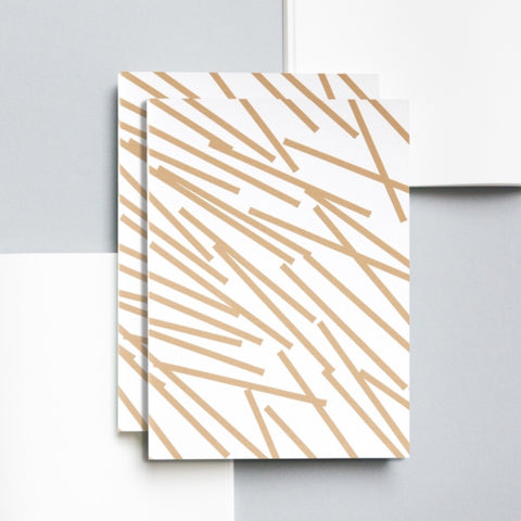 A5 Layflat Notebook in Gold Lines