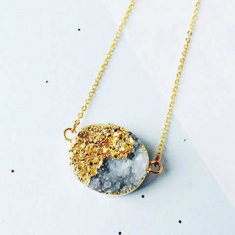 Equinox Quartz Druzy Necklace