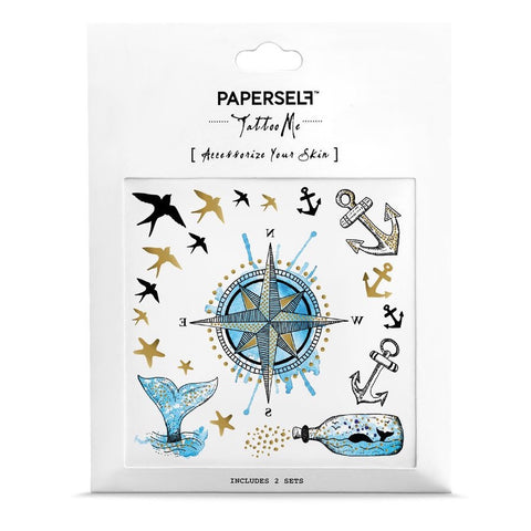 Nautical Temporary Tattoo Set