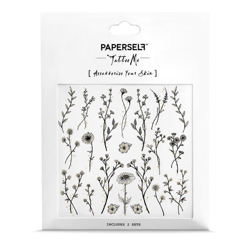 Wildflower Temporary Tattoo Set