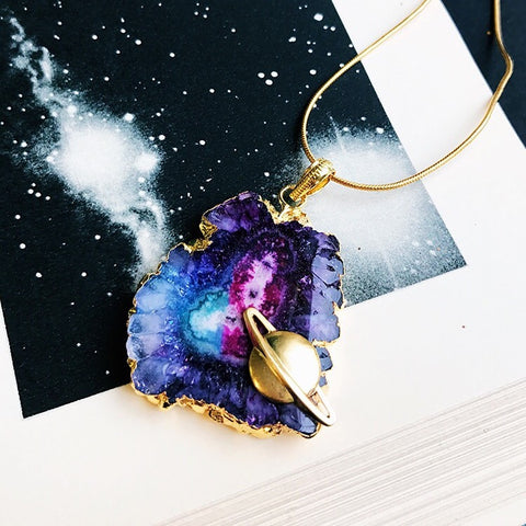 Voyager Aura Quartz Necklace