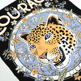 Detail of Courage Is Within Tiger Screen Print
