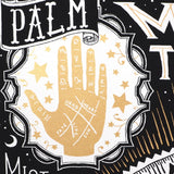 Palm Detail of Fortunes Told, Futures Unfold Crystal Ball Screenprint