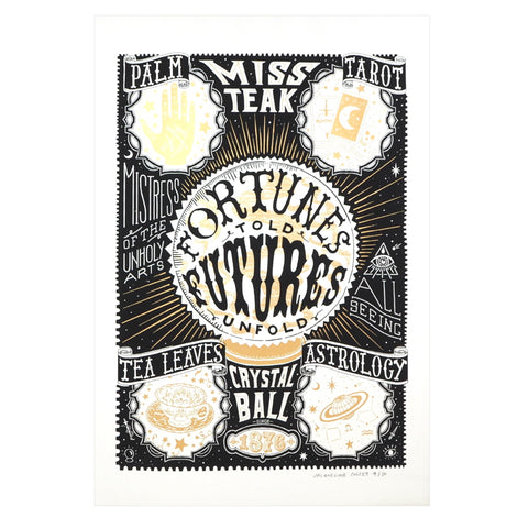 Fortunes Told, Futures Unfold Crystal Ball Screenprint