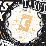 Tarot Card Detail of Fortunes Told, Futures Unfold Crystal Ball Screenprint
