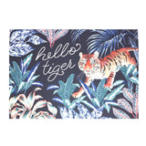 Hello Tiger Illustrated Greetings Card