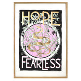 Hope Is Fearless Snake Screen Print in Wooden Frame