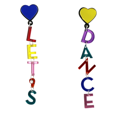 let's dance acrylic acrylic statement earrings