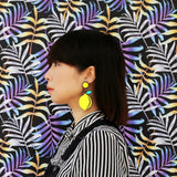 When Life Gives You Lemons Acrylic Statement Earrings on Model