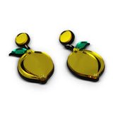 Acrylic Lemon Statement Earrings Image 2