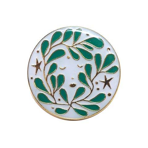 Green Man Enamel Pin from Lisa Junius