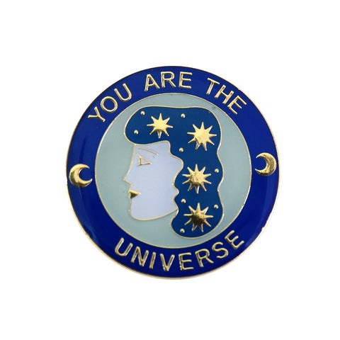 Your Are The Universe Star Girl Enamel Pin