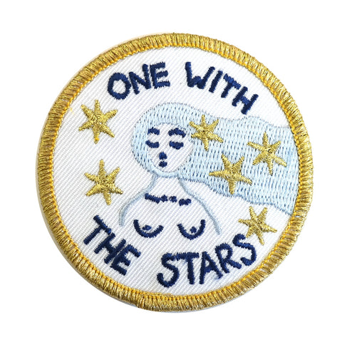 One With The Stars Embroidered Patch