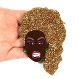 Ru Paul Drag Queen Icon Acrylic Statement Brooch Size Image